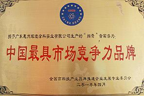 中国最具市场竞争力品牌